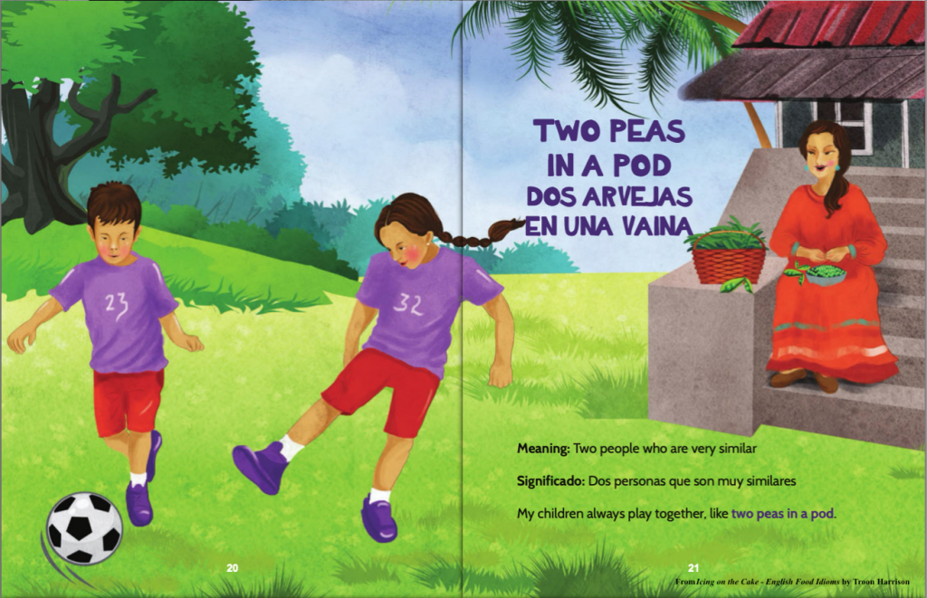 Two peas in a pod, a book for Idiom Week