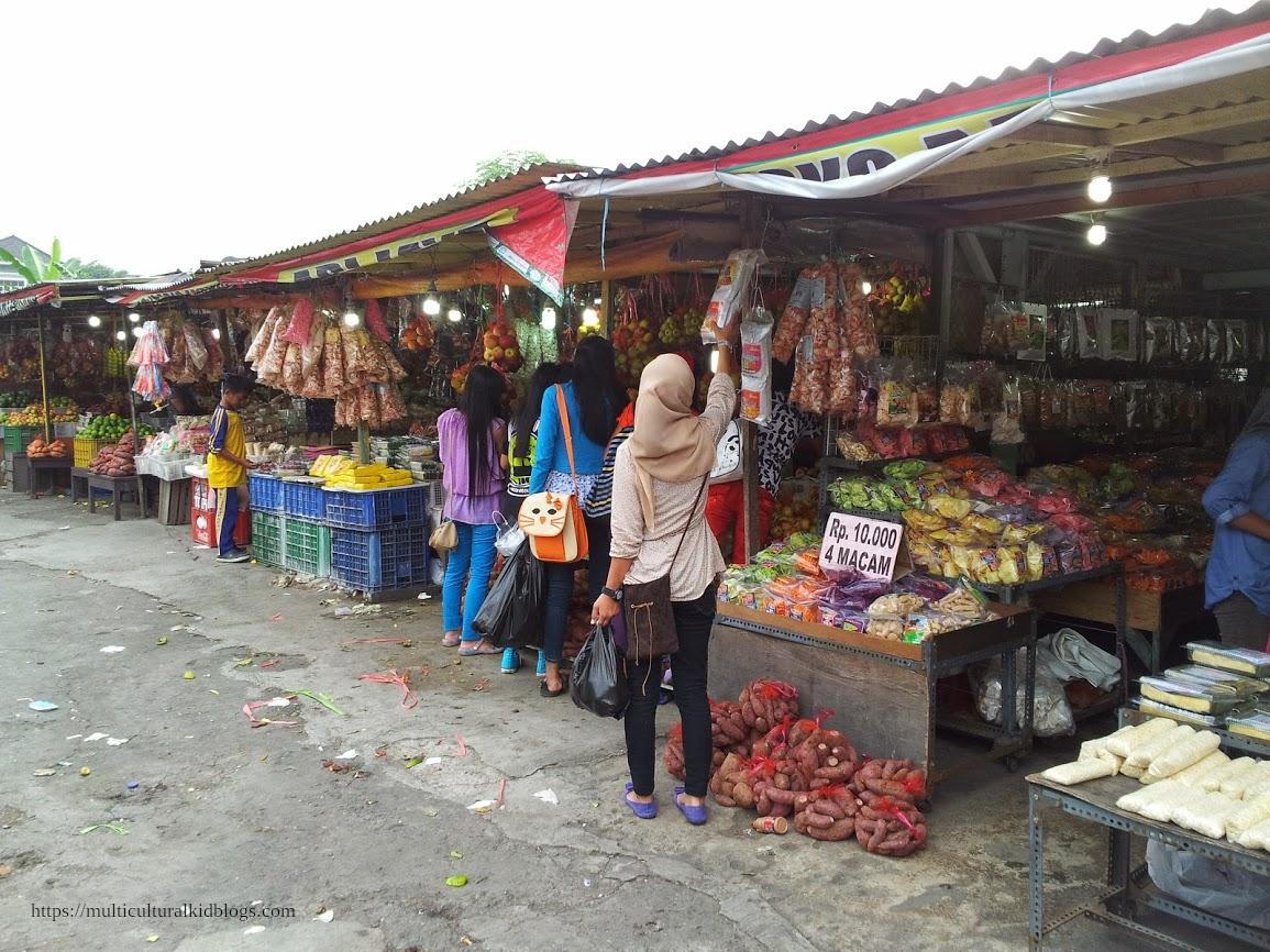 A market at East Java