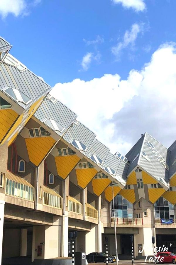 the yellow cube houses in Rotterdam