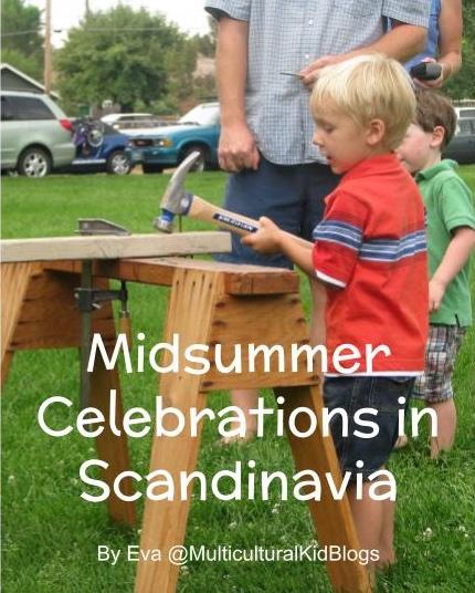 Children working with wood | Midsummer celebrations in Scandinavia | Multicultural Kid Blogs