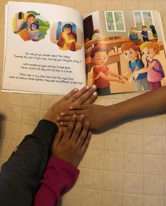 """Hands on the book """"How our Skin Sparkles"""" 