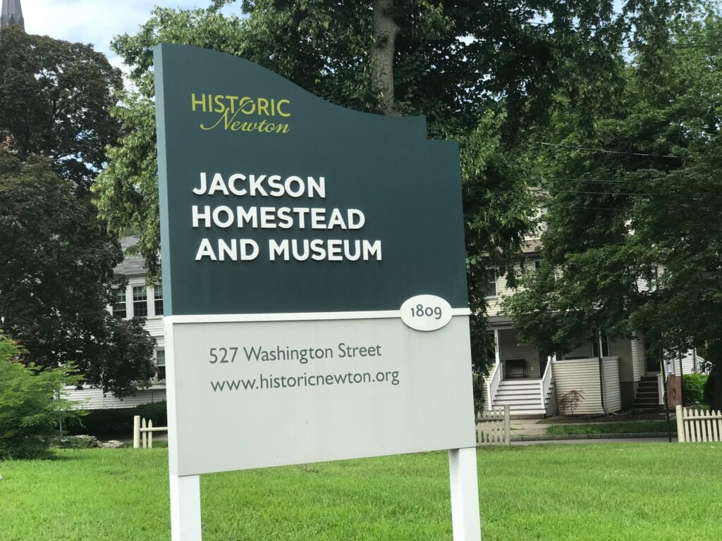 Jackson Homestead and Museum Sign
