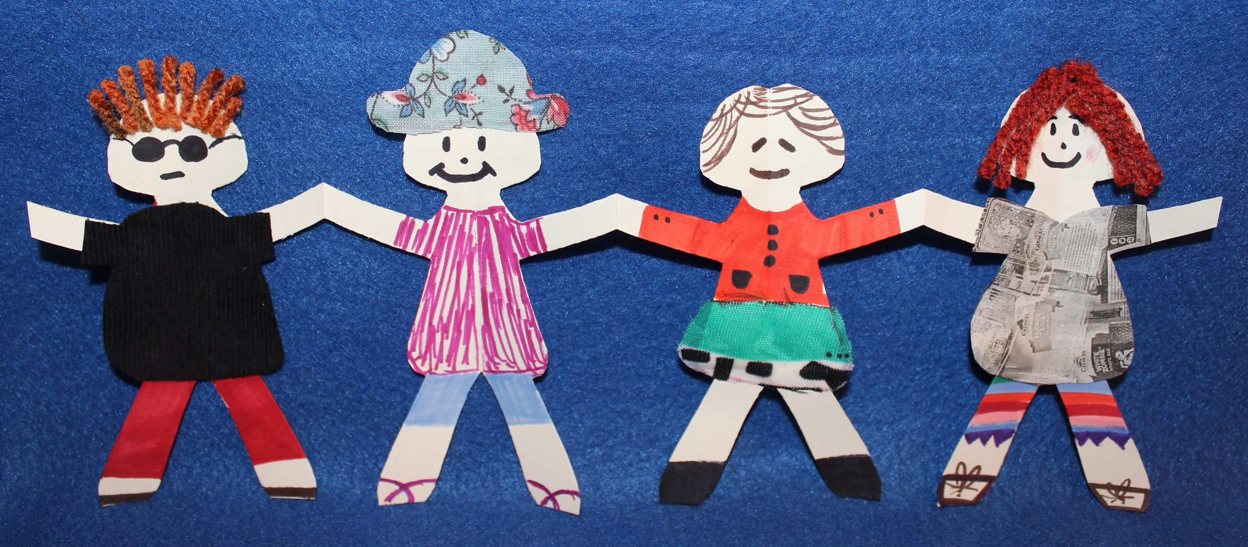Complete Paper Doll Chain Craft