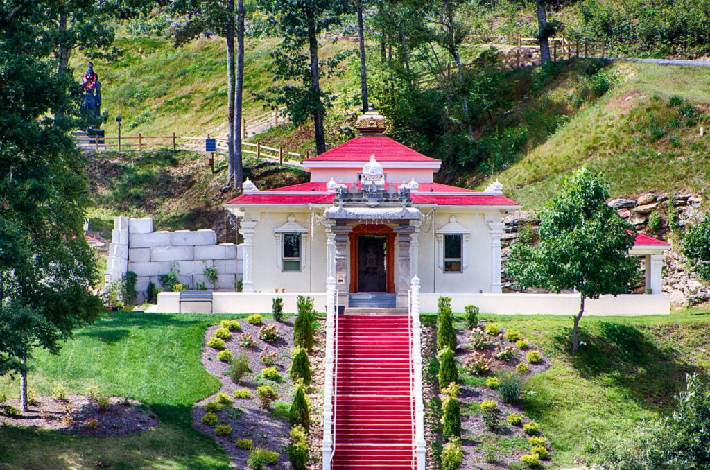 Exterior View of Sri Somesvara Located Just Outside Asheville, NC